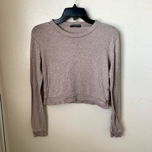 Brandy Melville Sweater Wool Cropped Long Sleeve
